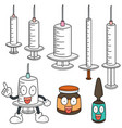 set of injection medicine vector image