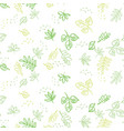 simple green leaves seamless pattern vector image vector image