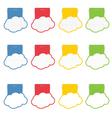 speech bubble set cloud vector image