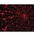 spiderweb vector image vector image