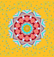 traditional indian style ornamental floral vector image vector image