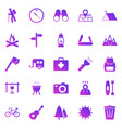 trekking gradient icons on white background vector image