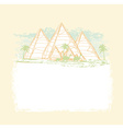vintage background with pyramids giza vector image vector image