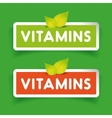 Vitamins label set vector image vector image