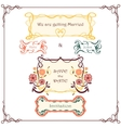 Wedding graphic set Vintage border pack vector image vector image