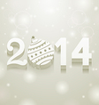 White 2014 Balls vector image vector image