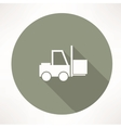 Fork lift icon vector image