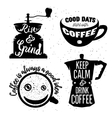 Hand drawn typography coffee posters set vector image