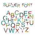 summer font in hand drawn style decorated in vector image