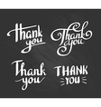 a set style thank you design elements lettering vector image vector image