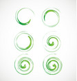 abstract green swirl element icon vector image