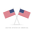 american flag icon color vector image vector image