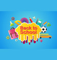 back to school sale banner poster 3d design vector image vector image