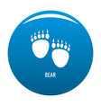 bear step icon blue vector image