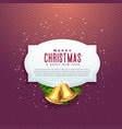 beautiful christmas design with text space and vector image vector image