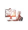 blogger subscribe video internet media concept vector image vector image