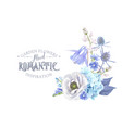 blue flower composition vector image vector image