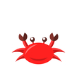 Cartoon funny crab isolated on white background vector image