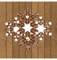 christmas cookies on a wooden background vector image vector image