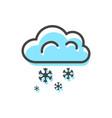 cloud snowflakes christmas vector image vector image