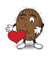 coconut is sending a kiss vector image vector image