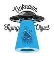 Color vintage ufo emblem vector image vector image
