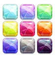 Colorful crystal square buttons vector image vector image