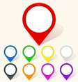 Colorful map pin icon in flat style vector image vector image