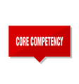 core competency red tag vector image vector image