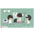 cpr cardiopulmonary resuscitation in emergency vector image vector image