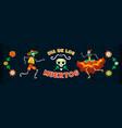 day dead mexico horizontal banner vector image vector image
