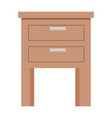 drawer wooden isolated icon vector image