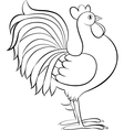 drawing of rooster or cock sketch vector image
