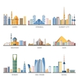 Eastern Cityscapes Landmarks Flat Icons Collection vector image vector image
