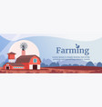 farming flat banner template vector image vector image