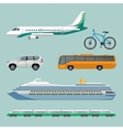 Fast transportation means set of modern transport vector image