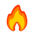 fire flames red yellow art new icon vector image vector image