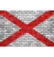 Flag of Alabama on a brick wall vector image vector image
