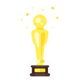 flat style icon of movie reward vector image vector image