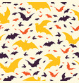 flying halloween bats vector image