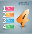 four 3d digital infographic vector image