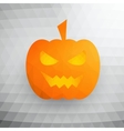 Halloween Pumpkin On Abstract Mosaic Background vector image