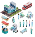 Hospital Isometric Isolated Icons vector image vector image