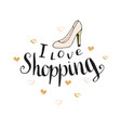 I love shopping fashion quote for blog design