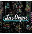 Inscription Las Vegas vector image vector image