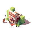 isometric shop opening icon vector image vector image