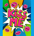 kiss me word bubble vector image vector image