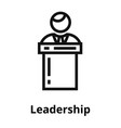 leadership thin line icon vector image vector image