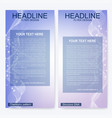 leaflet flyer layout magazine cover corporate vector image vector image