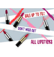 lipstick package design vector image vector image